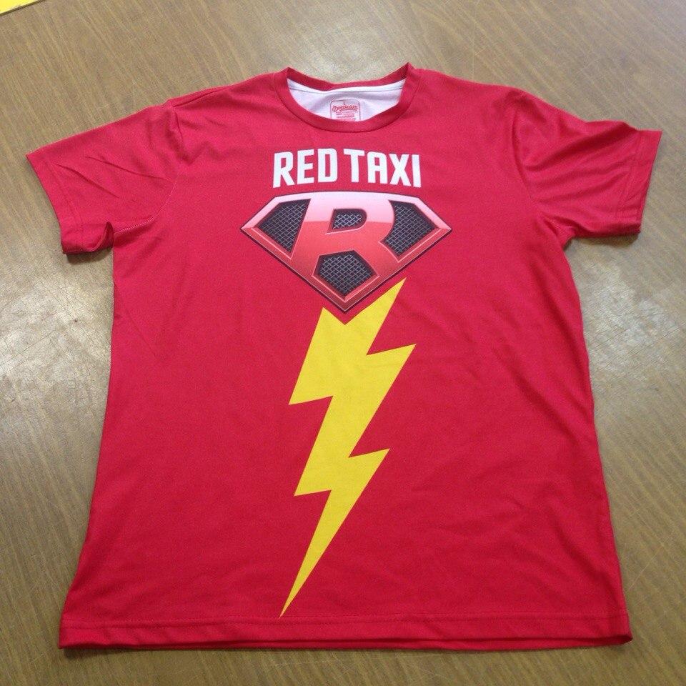 Футболки c полной запечаткой для Red Taxi